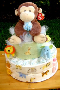 Monkey diaper cakes instructions and pictures